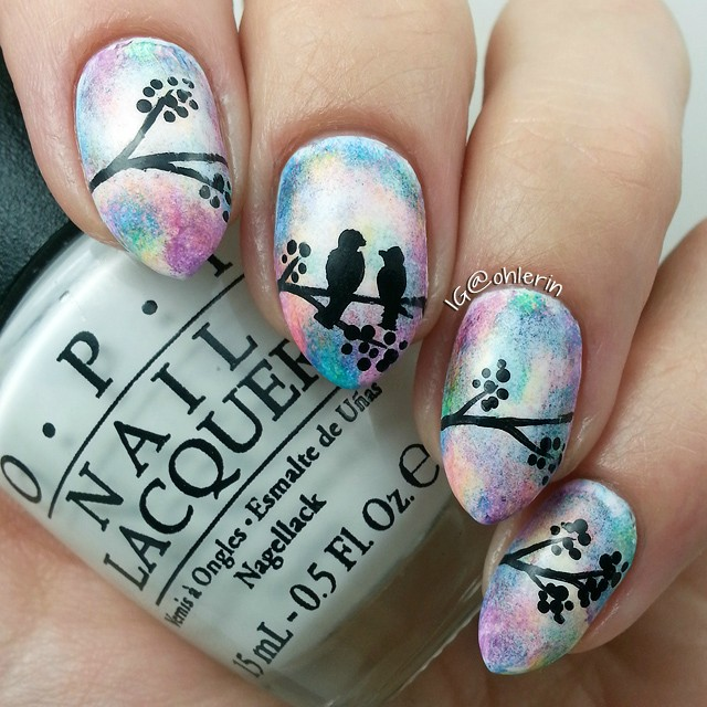 Nails of the Day: Lovebirds