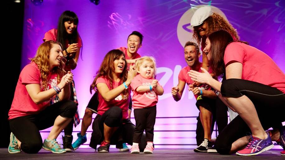 This sick little girl just showed the world she's a Zumba superstar