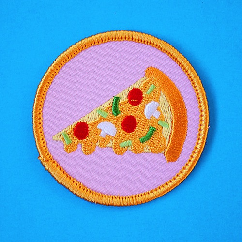 Here's your pizza badge. You've earned it.