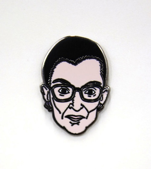 Accessorize with honor with this R.B.G. pin