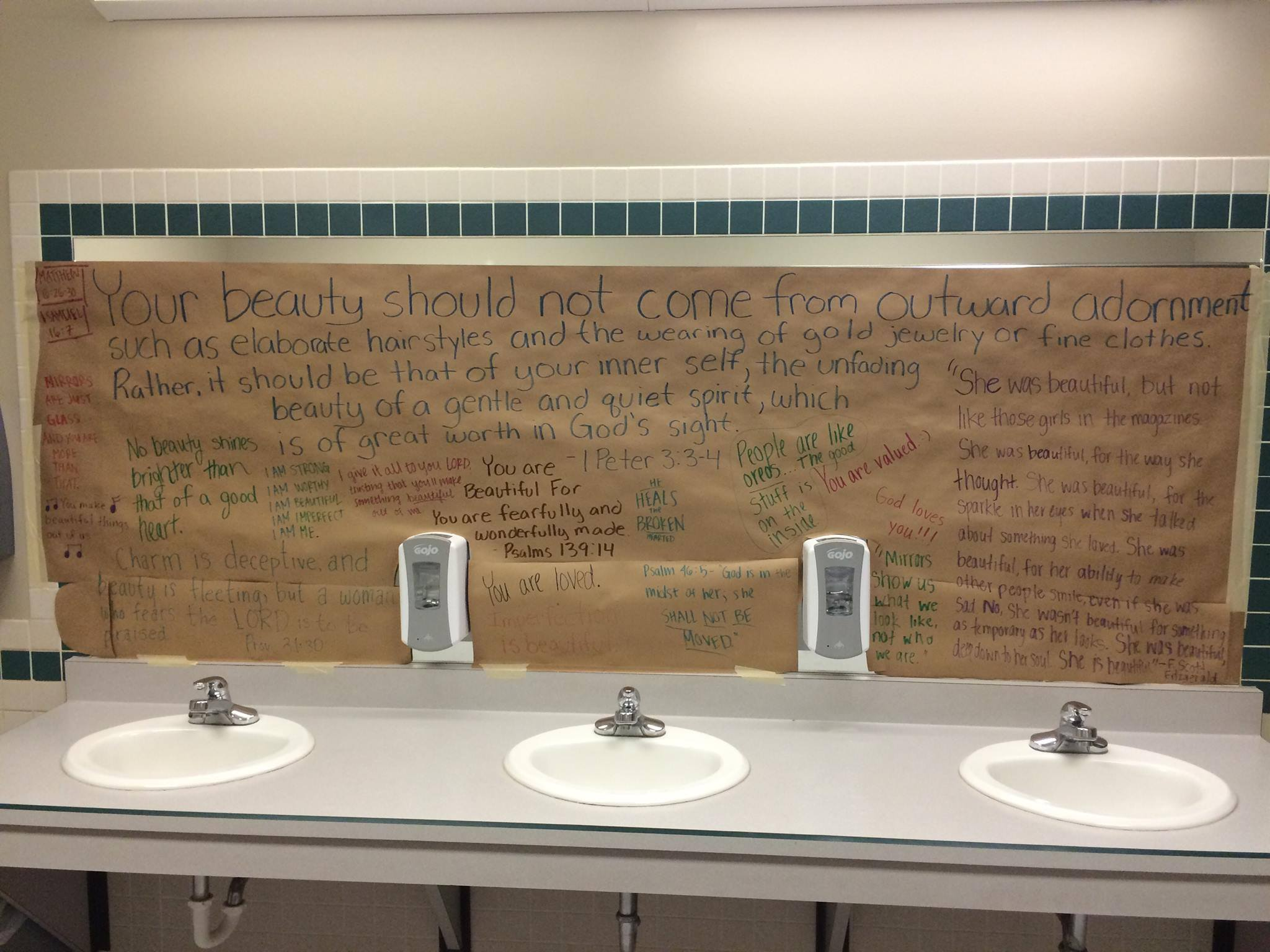 these students covered their school 39 s bathroom mirrors to