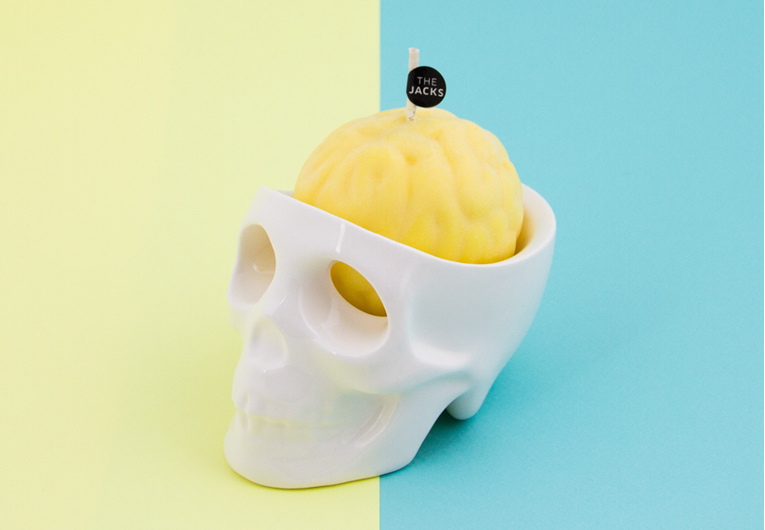 Spooky scented skulls candles that cry when the wax melts