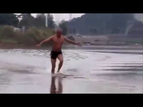 Whoa, this Shaolin monk just set a world record for running on water