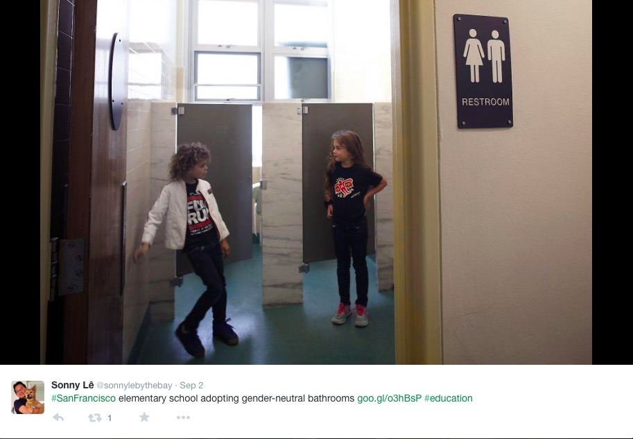 In the spirit of inclusivity, this elementary school created gender-neutral bathrooms