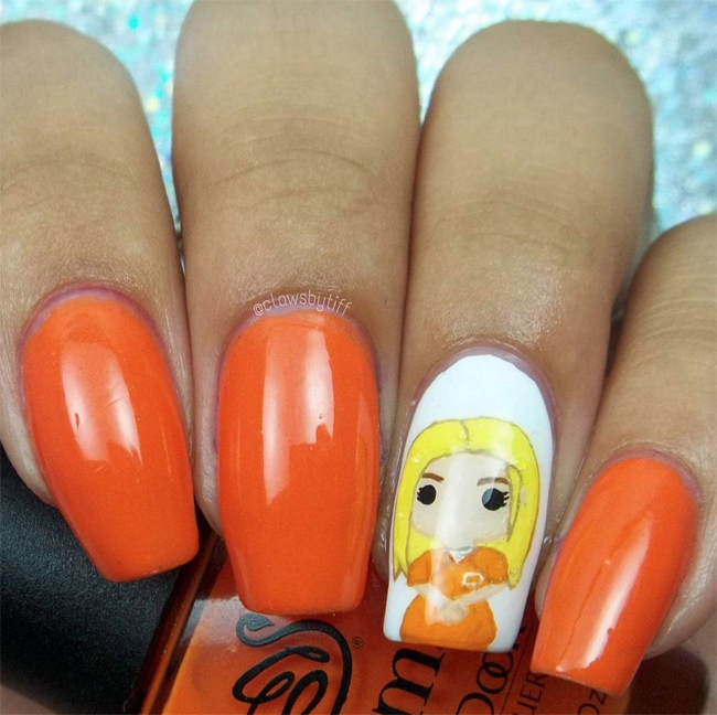 Nails of the Day: 'Orange is the New Black' fandom fingers