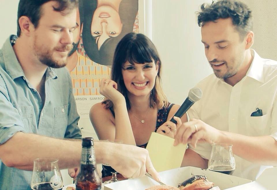 Inconveniently Interviewing  Jake Johnson and Joe Swanberg while Beer Tasting!