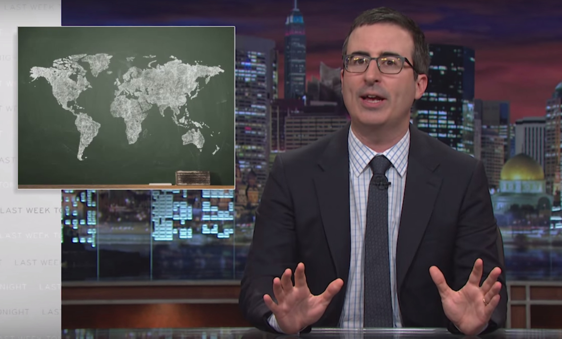 John Oliver breaks down what you really need to learn in school