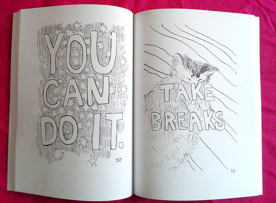 We're in love with this coloring book of positive affirmations