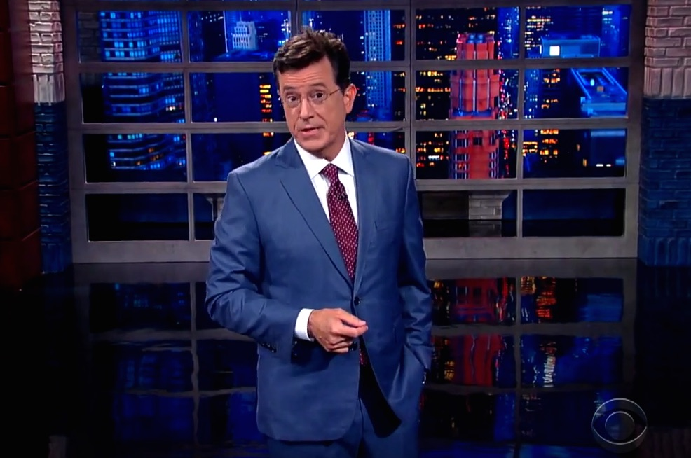 Watch Stephen Colbert kill it during his first 'Late Show' monologue
