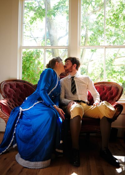 This couple is actually living in the Victorian era