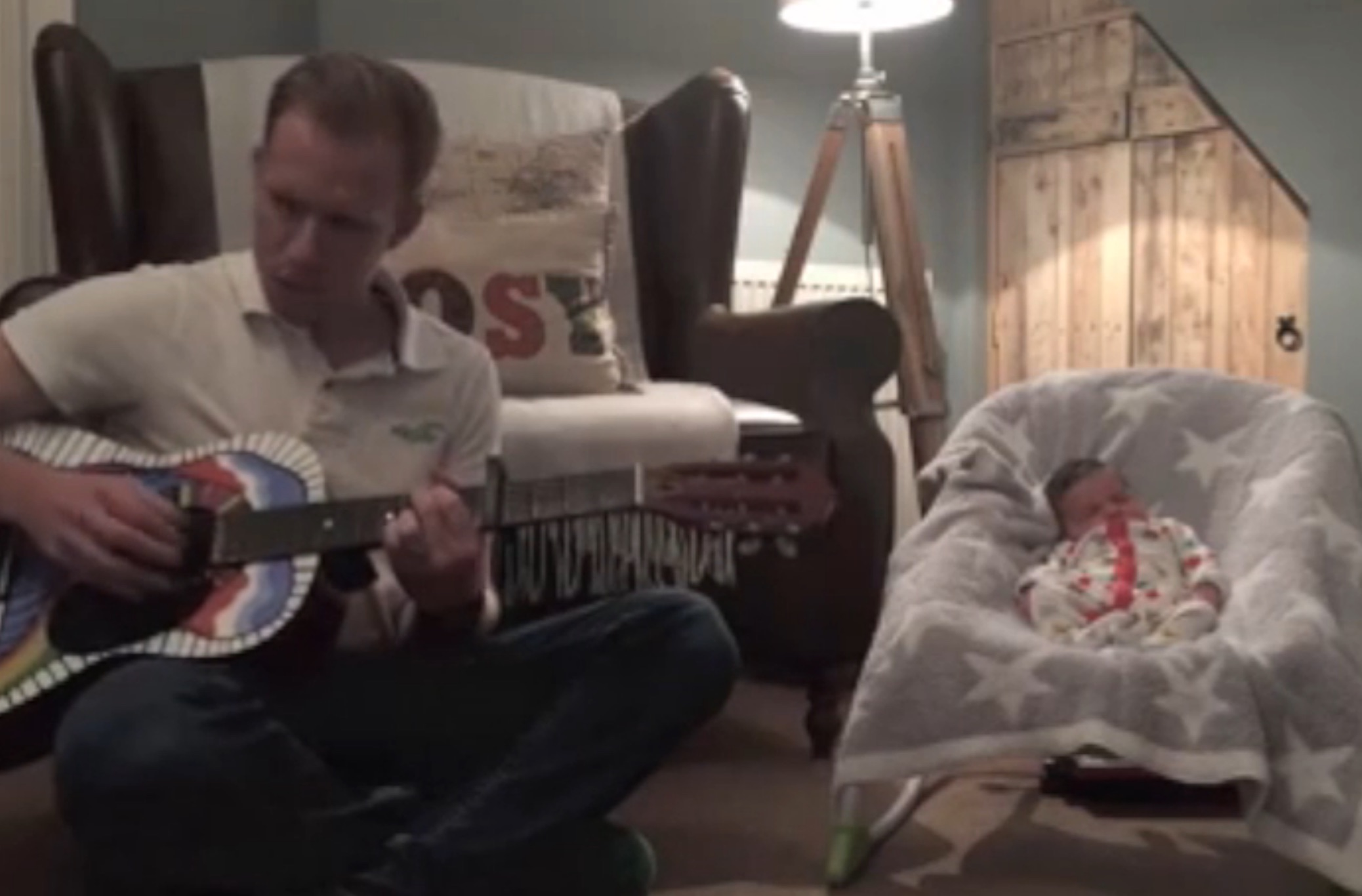 World's sweetest dad writes the ultimate bedtime song for his daughter