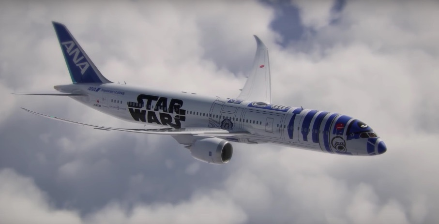 We REALLY want to take a ride in the plane designed to look like this famous Star Wars character