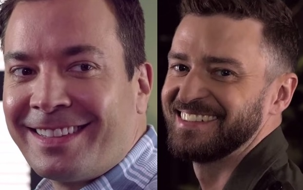Jimmy Fallon and Justin Timberlake just stare at each other and it's amazing