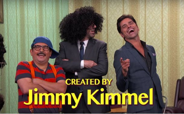 John Stamos and Jimmy Kimmel act out sitcom intros. Just watch.