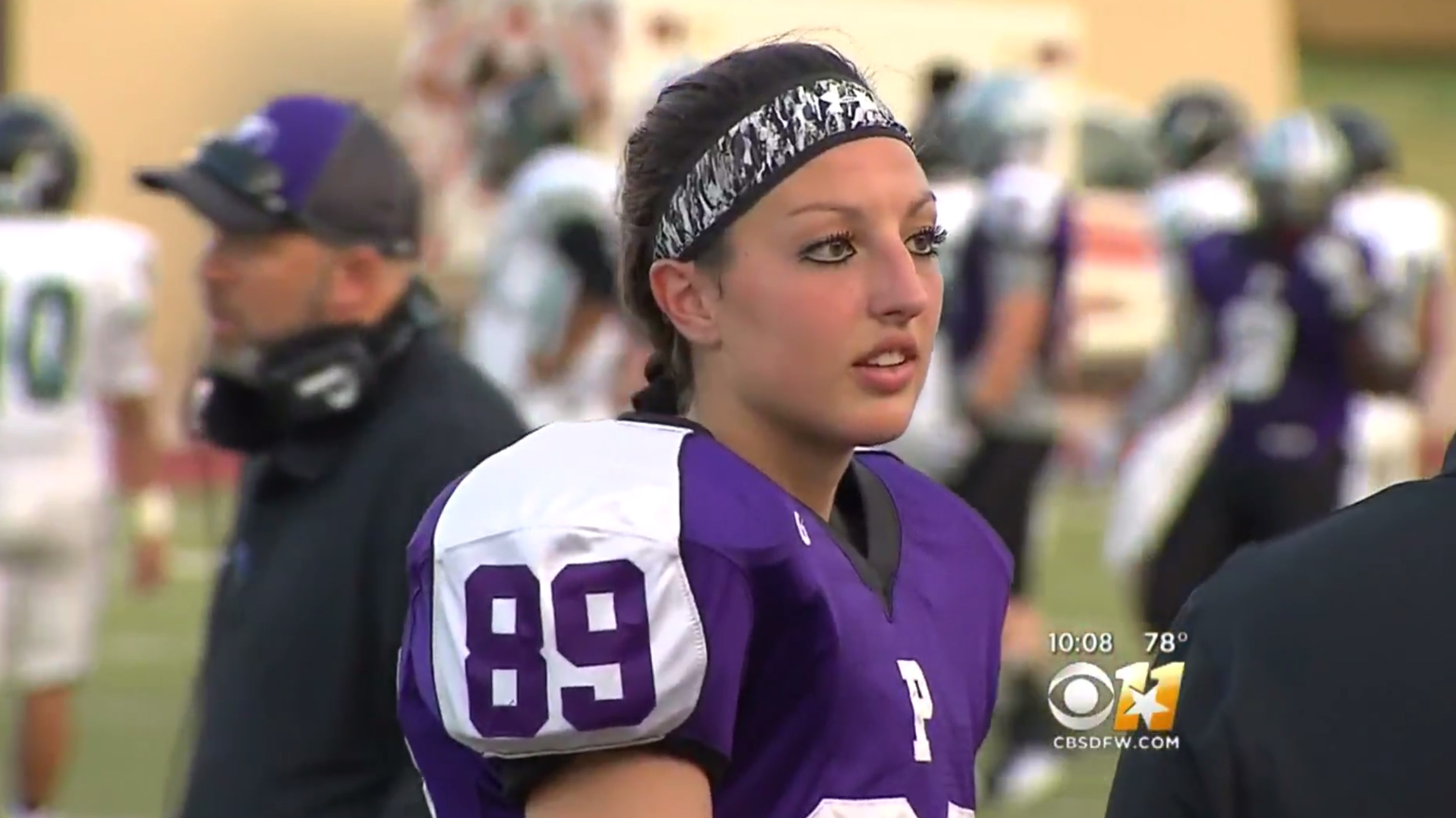 This girl is making history as a member of her high school football team