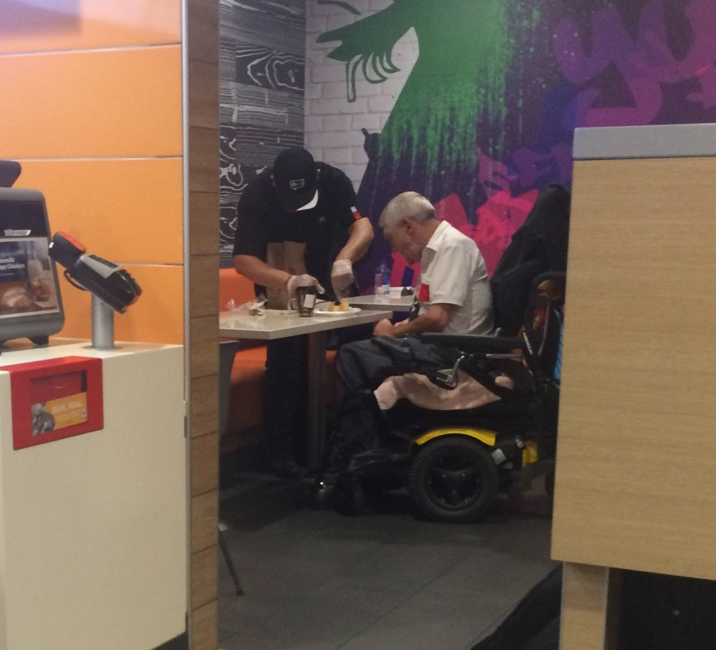 This photo of a McDonald's employee is going viral for the sweetest reason