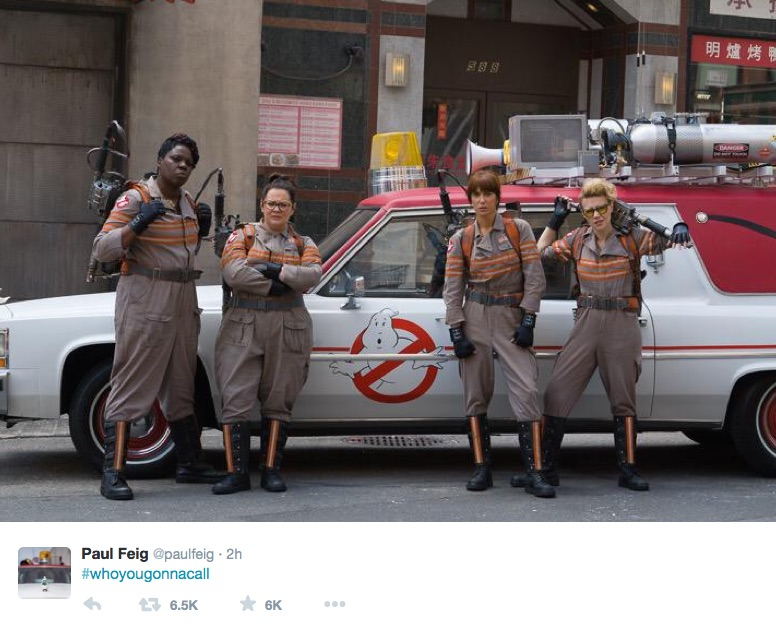 Director Paul Feig awesomely stands up for his Ghostbusters ladies on Twitter
