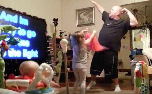 Hero dad caught on hidden camera flawlessly dancing to Katy Perry
