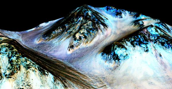 We should probably talk about this: Scientists found flowing water on Mars