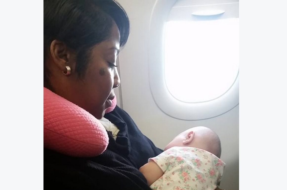 A baby was crying on a plane, so a stranger did something incredible