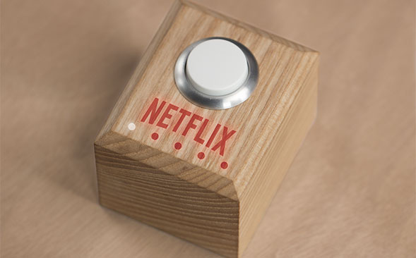 Somebody finally invented a 'Netflix and chill' button, so there's that