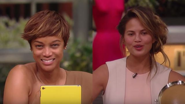 Tyra Banks and Chrissy Teigen went makeup free on TV and we love it