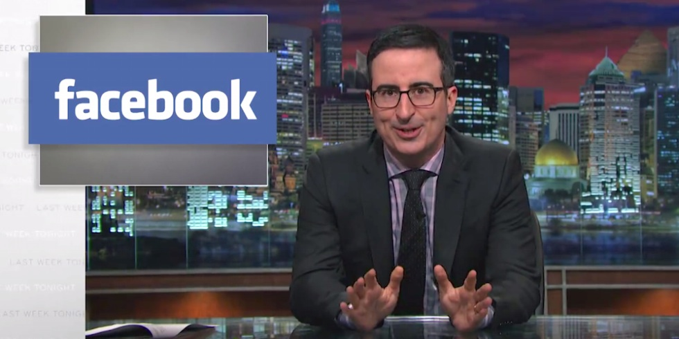 John Oliver just set the record straight on Facebook privacy settings