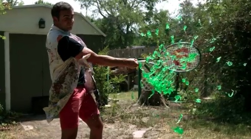 Tennis racket hitting JELL-O in slow motion is weirdly satisfying