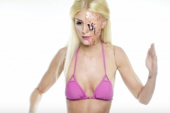 This melting Barbie makeup tutorial is the stuff of nightmares