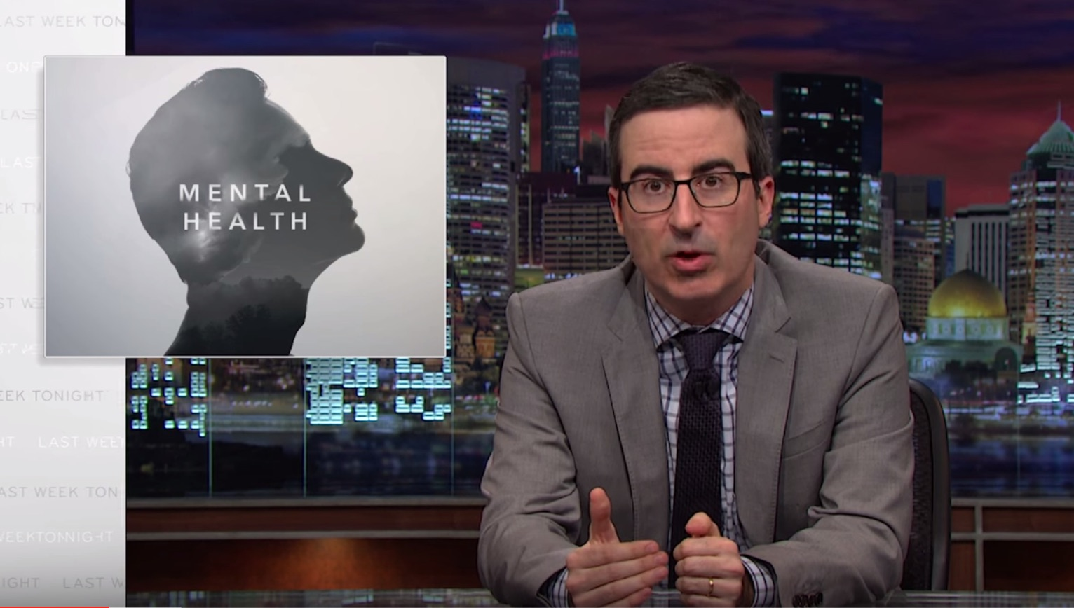 Everyone needs to watch John Oliver's takedown of the mental health stigma