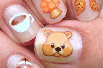 Nails of the Day: Fall emojis!