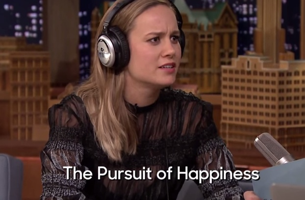 And then, Jimmy Fallon made Brie Larson take the Whisper Challenge