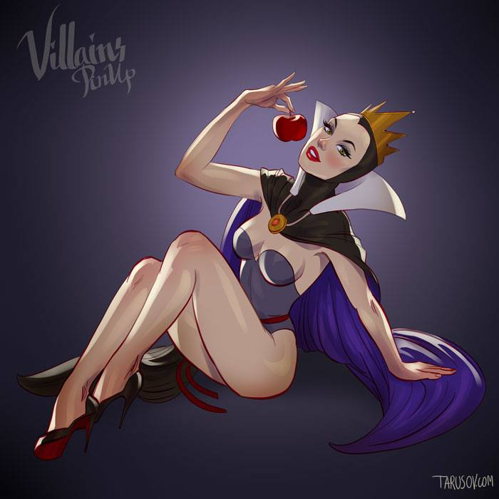 And now, we present you Disney villains as pin-up girls