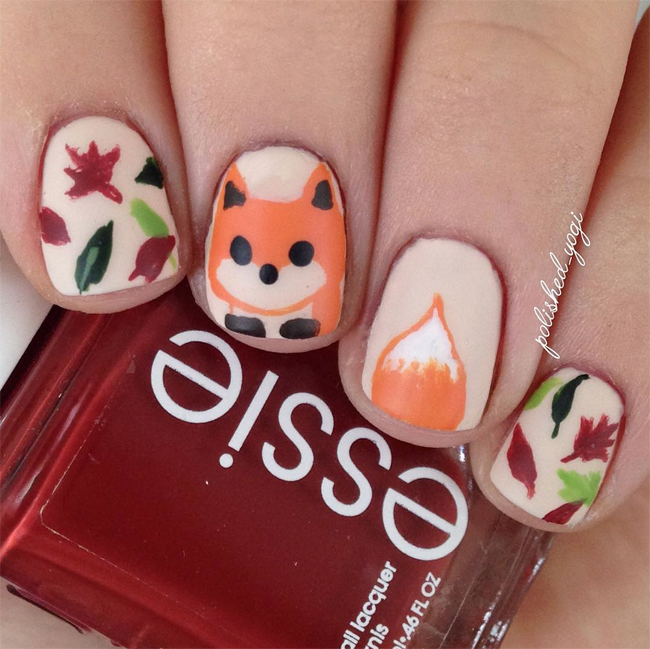 Fox Nail Designs: Nails Of The Day: Foxy In Fall