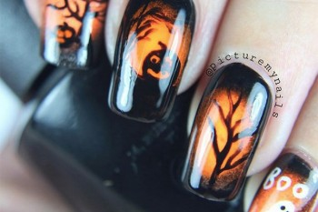 Nails of the Day: A spooky nightscape