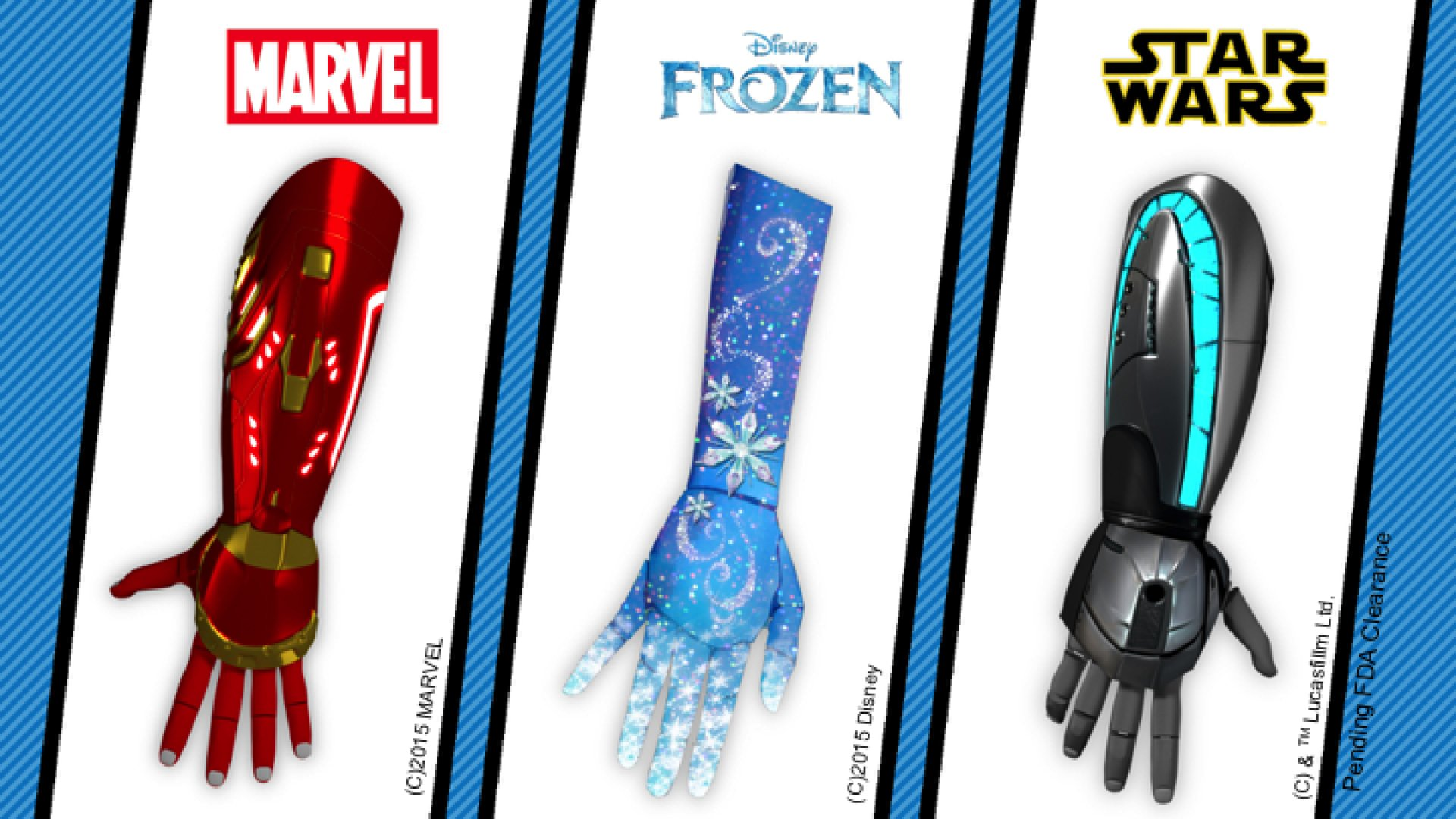 Disney-themed bionic limbs are coming for kids in need