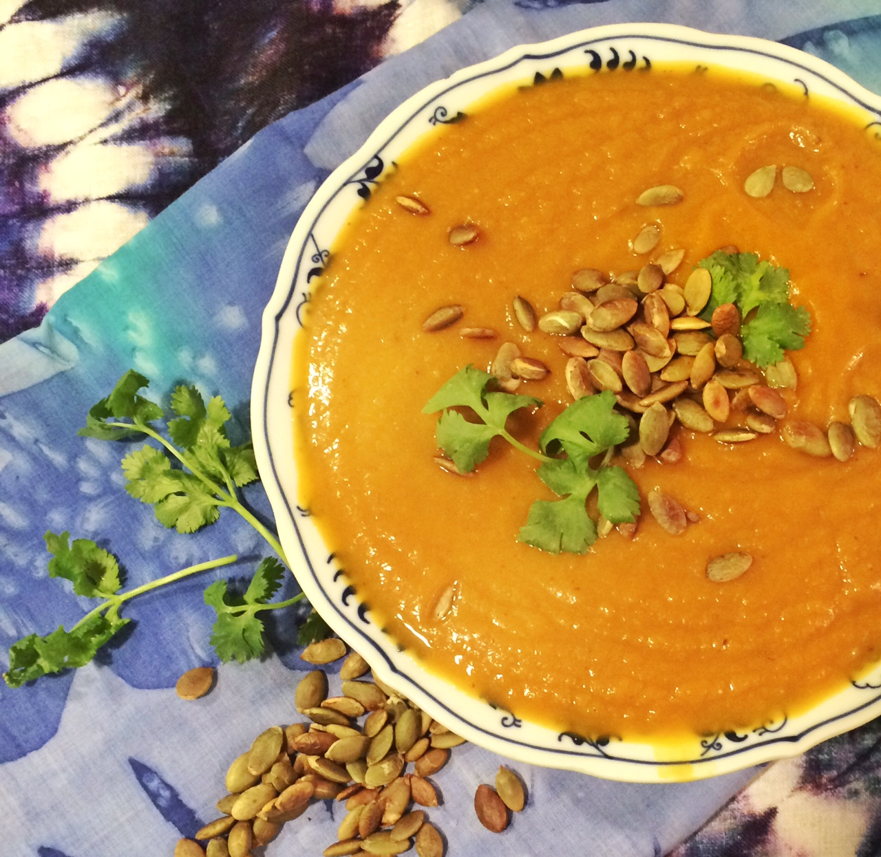 Use your Halloween pumpkins for a spicy soup