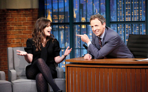 Watching our girl Zooey on 'Seth Meyers' last night