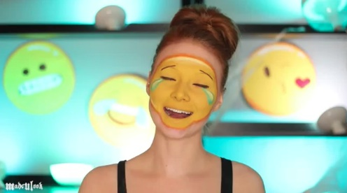This emoji makeup tutorial is all the Halloween inspo you need