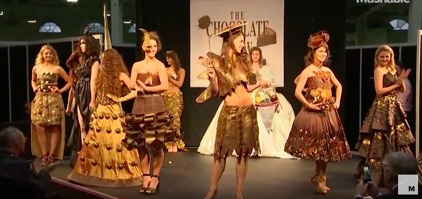 A chocolate fashion show just happened, this is not a drill