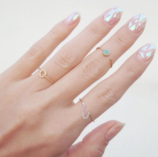 Glass nails are a prismatic work of art on your fingertips
