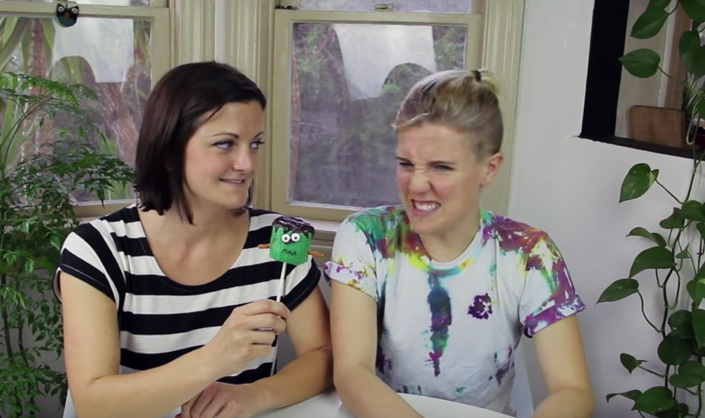 Making Halloween 'Franken-Pops' with Hannah Hart