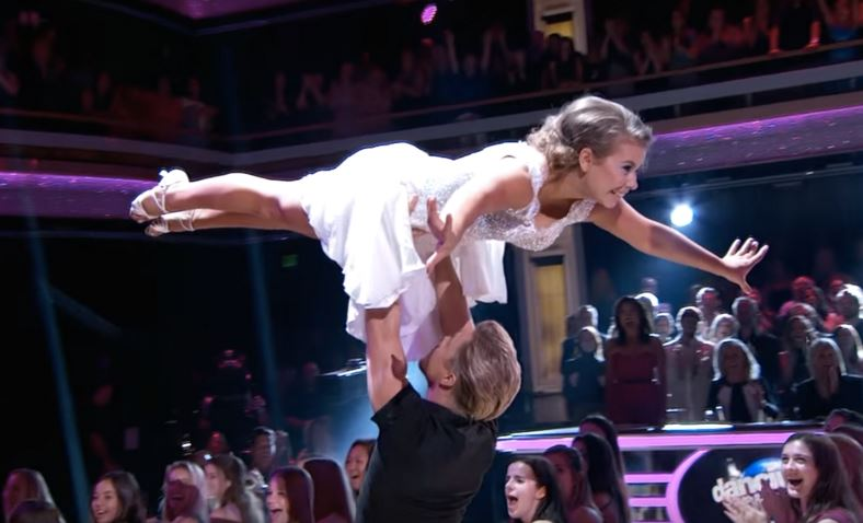 So, Bindi Irwin's 'Dirty Dancing' lift landed her a perfect score. NBD.