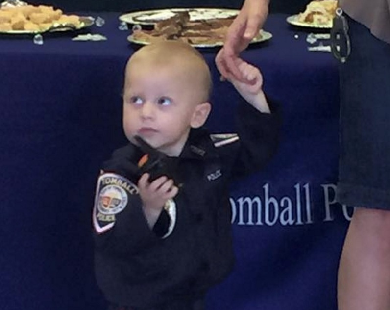 The beautiful reason why this toddler was sworn in as an honorary police officer