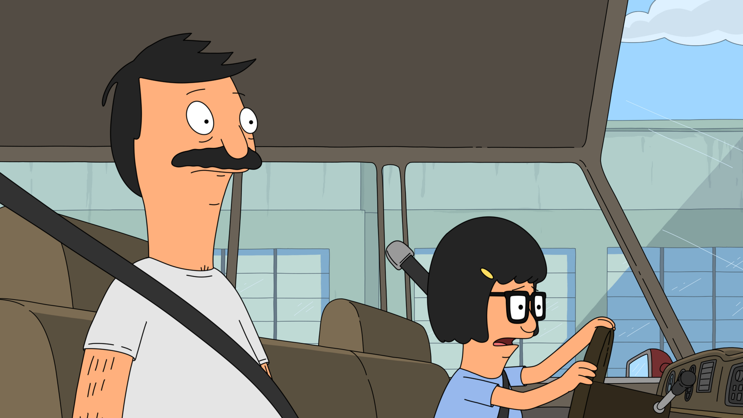"BOB'S BURGERS: Bob gives Tina her first try behind the wheel in the all-new ""Tina-rannasaurus Wrecks"" episode of BOB'S BURGERS airing Sunday, Dec. 2 (8:30-9:00 PM ET/PT) on FOX.  BOB'S BURGERS ™ and © 2012 TCFFC ALL RIGHTS RESERVED."