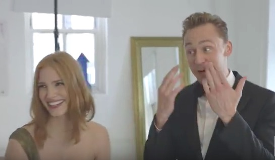 Tom Hiddleston and Jessica Chastain just threw a terrible party on purpose