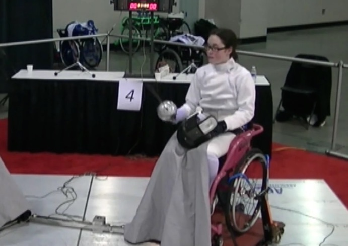 This incredible teen is taking on the world of fencing, from her wheelchair