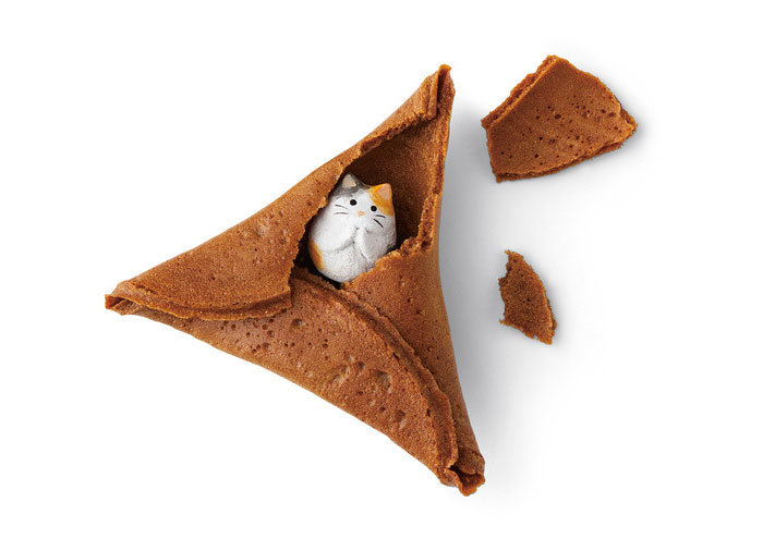 These fortune cookies are filled with cats, of course