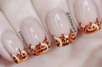 Nails of the Day: Jack-O-Lantern tips