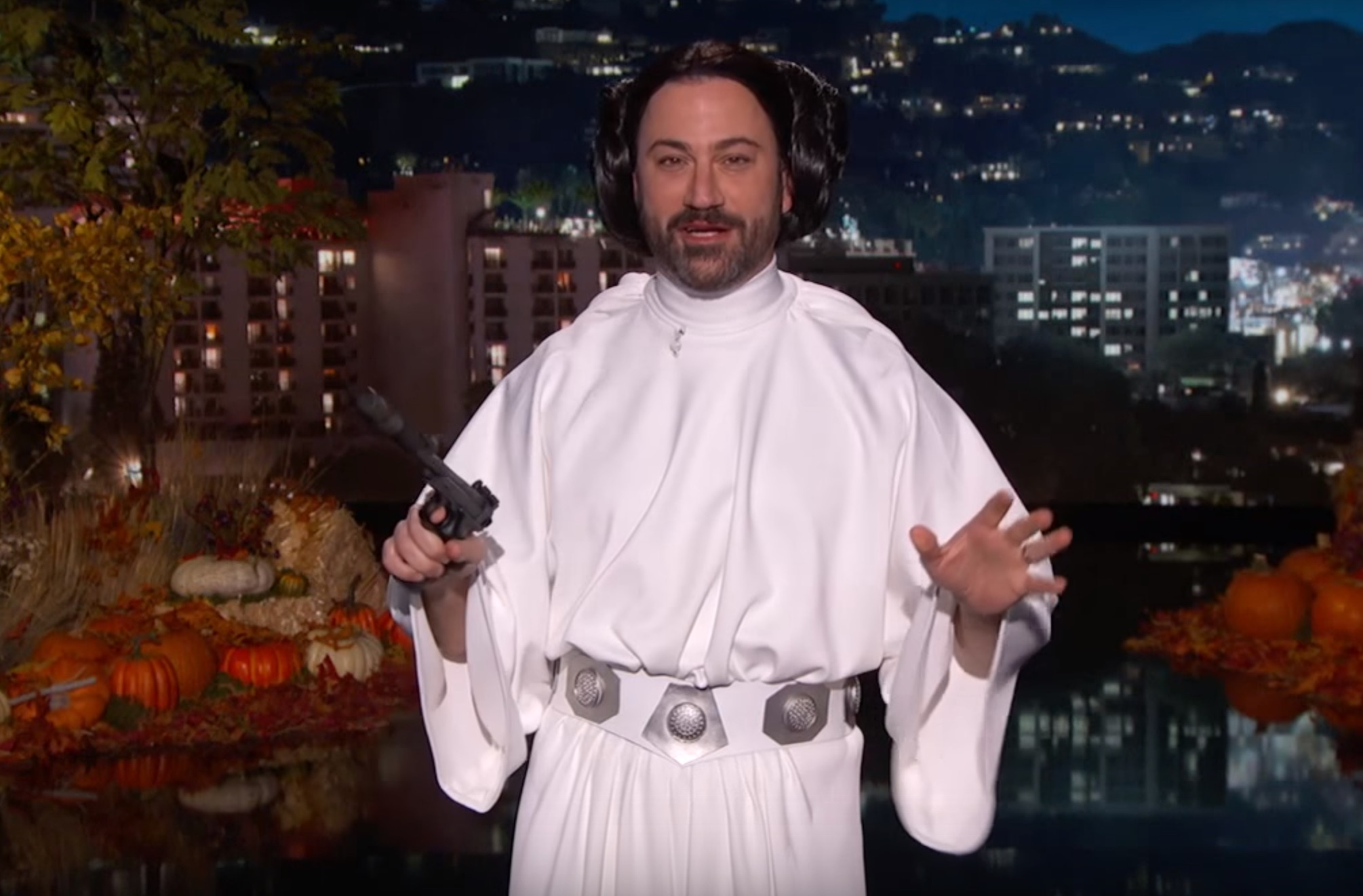 Looking for a last-minute punny Halloween costume? Jimmy Kimmel has your back
